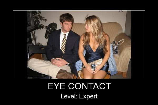 eye contact : draguer avec le regard
